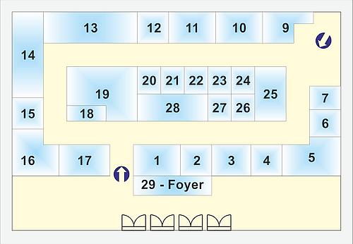 Vorläufiger Aussteller- und Hallenplan der Leistungsschau 2014