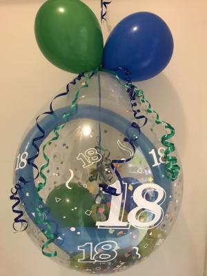 Geschenkballons und Helium-Ballons