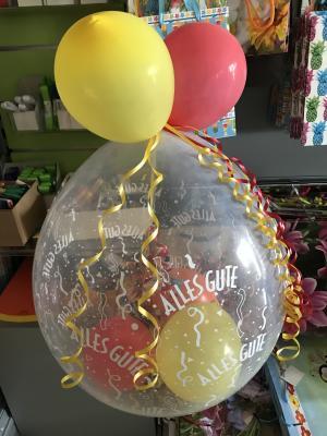 für viele Gelegenheiten bieten wir hübsch verpackte Geschenke im Ballon an. Bitte ein bis zwei Tage vorbestellen.